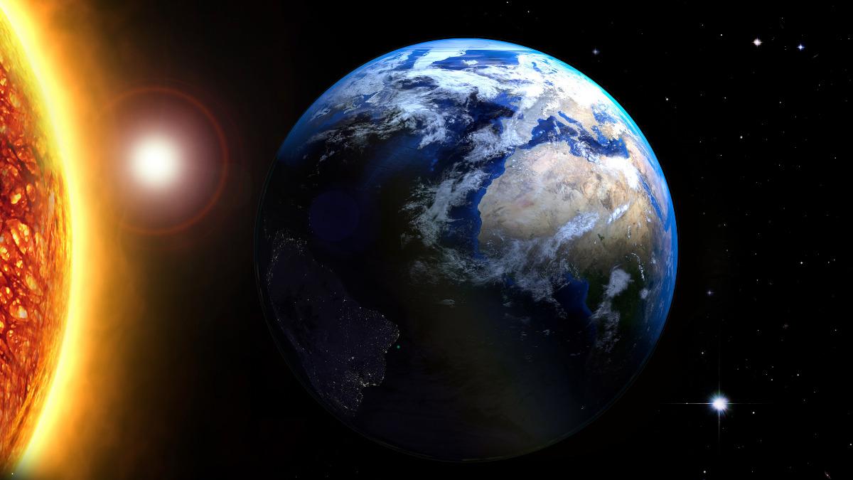 太陽から見た地球