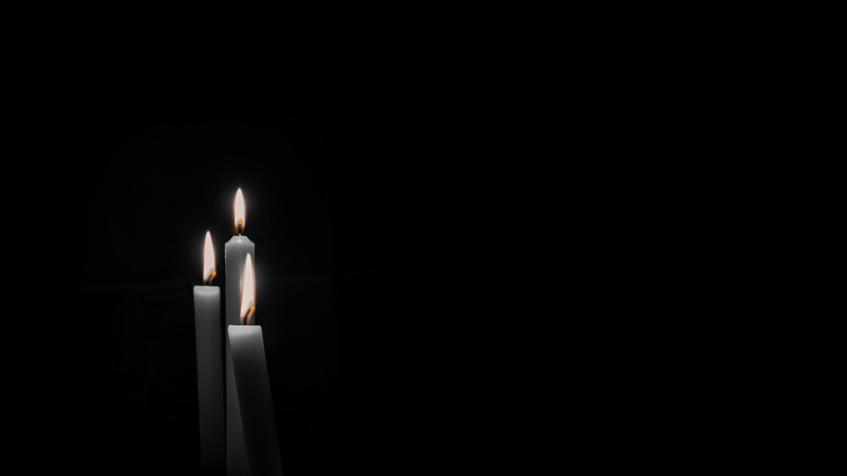 暗闇のキャンドル
